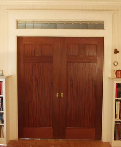 ... Lee \u0026 Sons Woodworkers Inc. - Wooden windows and doors Mahogany pocket doors & Lee \u0026 Sons Woodworkers Inc. - Photos of Wooden Windows and Doors
